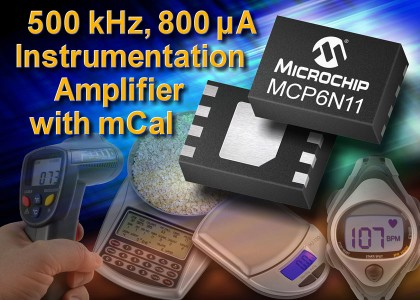 MCP6N11-420x300 MCP6N11, amplificatore low-power ad alta precisione da Microchip