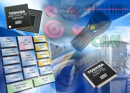 Toshiba6151A-420x300 Microcontrollori ARM-Cortex™ con interfacce Ethernet 10/100, CAN 2.0B e USB da Toshiba