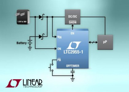 LTC2955-420x300 LTC2955, controller micropower con pulsante on/off