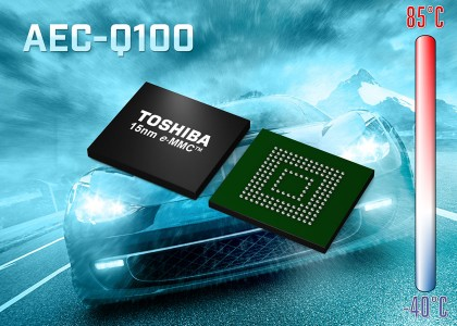 Toshiba-AEC-Q100-420x300 Memorie Flash NAND e・MMC da 15 nm per automotive da Toshiba