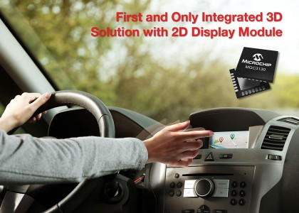 Microchip_3D_auto-420x300 Kit di sviluppo per 2D Projected Capacitive Touch (PCAP) e 3D gestures integrati su display