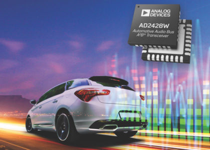 AD2428W-420x300 AD242x, nuovi transceiver Automotive Audio Bus (A2B) di Analog Devices